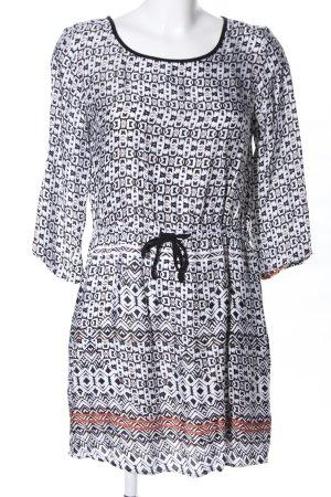 Malvin Minikleid weiß-schwarz Allover-Druck Casual-Look