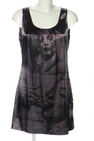 Malvin Minikleid schwarz-lila abstraktes Muster Casual-Look