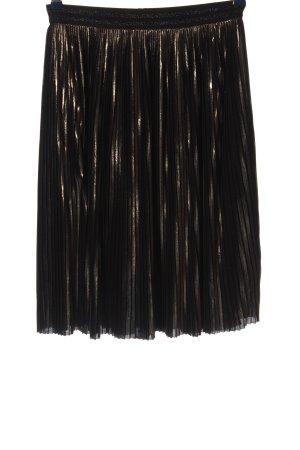 Malvin Jupe plissée noir-doré élégant