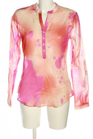 Malvin Schlupf-Bluse creme-pink abstraktes Muster Party-Look