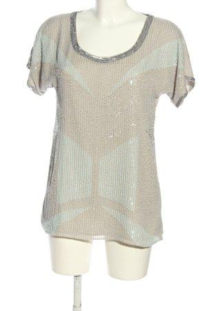 Malvin Blusa in seta crema-argento stile casual