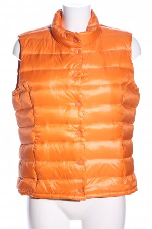 Malvin Quilted Gilet light orange quilting pattern casual look