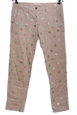 Malvin Pantalone jersey oro-bianco sporco motivo a pallini stile casual