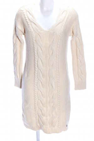 Malvin Strickkleid creme Zopfmuster Business-Look