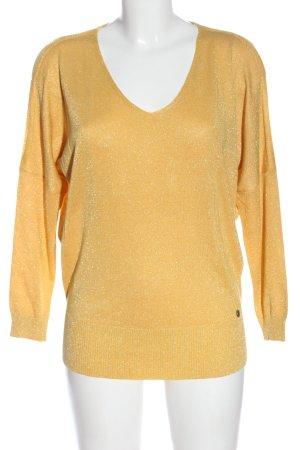 Malvin Camicia maglia giallo pallido puntinato stile casual