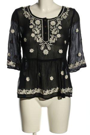 Malvin Transparenz-Bluse schwarz-weiß Casual-Look