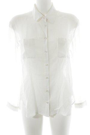 Malvin Transparenz-Bluse wollweiß