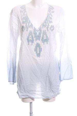 Malvin Tunikabluse weiß-blau Farbverlauf Business-Look