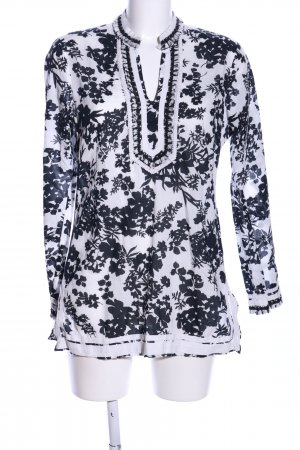 Malvin Tunikabluse weiß-schwarz Blumenmuster Casual-Look