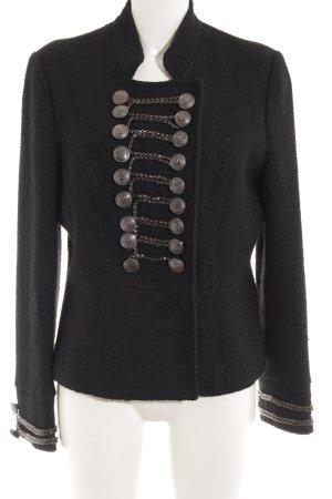 Malvin Blazer en tweed noir tissu mixte