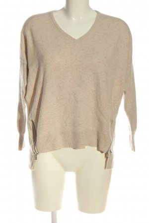 Malvin V-Neck Sweater natural white casual look