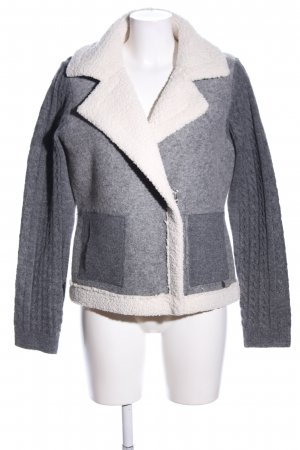 Malvin Veste en laine gris clair-blanc cassé moucheté style décontracté