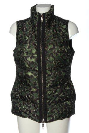 Malvin Women Pikowana kamizelka zielony-czarny Graficzny wzór W stylu casual