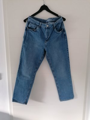 Promod Jeansy z wysokim stanem błękitny Bawełna