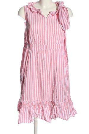 Mama licious A-Linien Kleid pink-weiß Streifenmuster Casual-Look