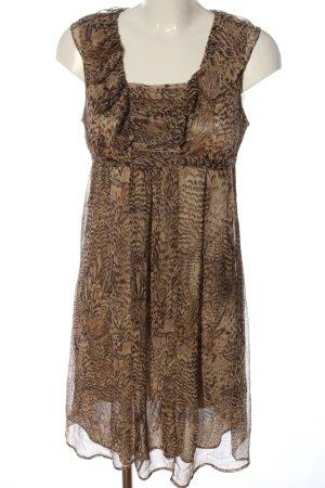 Mama licious A-Linien Kleid braun-schwarz Allover-Druck Casual-Look