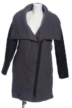 Mama licious Płaszcz polarowy jasnoszary-czarny Melanżowy W stylu casual