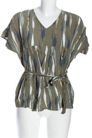 Mama licious Kurzarm-Bluse abstraktes Muster Casual-Look