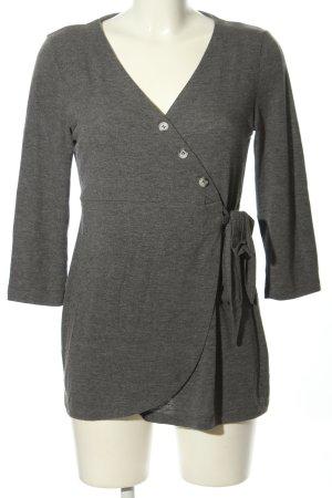 Mama licious Lang shirt lichtgrijs gestippeld casual uitstraling