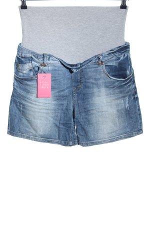 Mama licious Shorts hellgrau-blau meliert Casual-Look