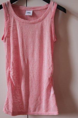Mama licious Top pink drapiert leichter Strick Frühling Sommer Longtop 36 38