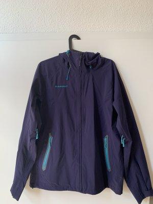 Mammut Płaszcz przeciwdeszczowy turkusowy-stalowy niebieski