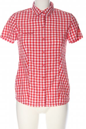 Mammut Short Sleeve Shirt red-white check pattern casual look