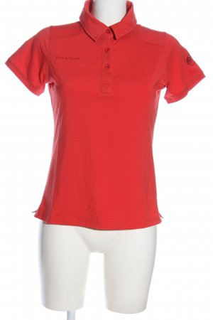 Mammut Polo rosso Stampa a tema stile casual