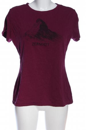 Mammut Print-Shirt pink-schwarz Motivdruck Casual-Look