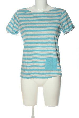 Mammut T-shirt rayé bleu-gris clair moucheté style décontracté