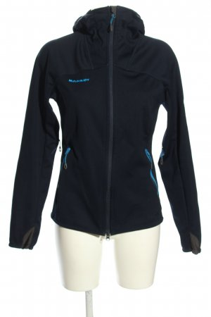 Mammut Softshell Jacket blue embroidered lettering athletic style