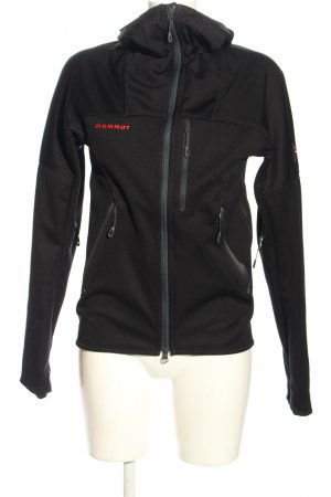 Mammut Sports Jacket black embroidered lettering athletic style