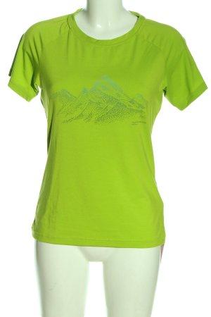 Mammut T-shirt vert imprimé avec thème style décontracté