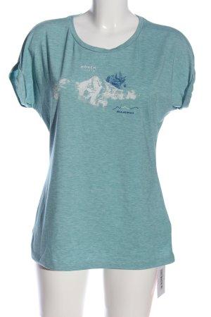 Mammut T-Shirt türkis-weiß meliert Casual-Look