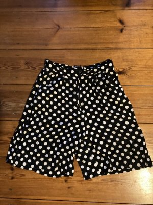 Pantaloncino a vita alta nero-bianco Cotone