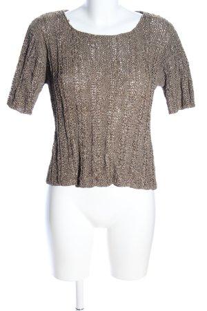 Mamut Crochet Shirt khaki cable stitch casual look