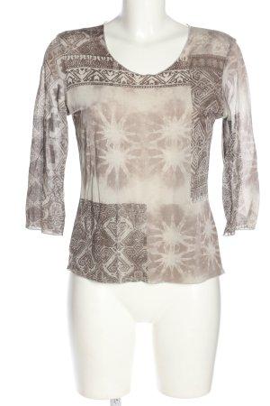 Mamut Camisa de malla estampado con diseño abstracto look casual