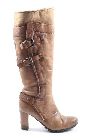 Manas design Wysokie buty na obcasie brązowy W stylu casual