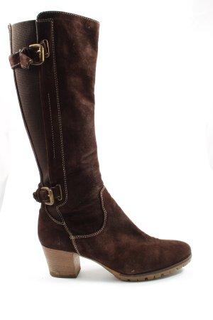 Manas design Wide Calf Boots brown casual look