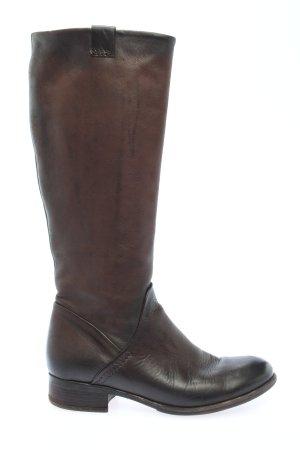 Manas Kozaki z cholewką brązowy W stylu casual