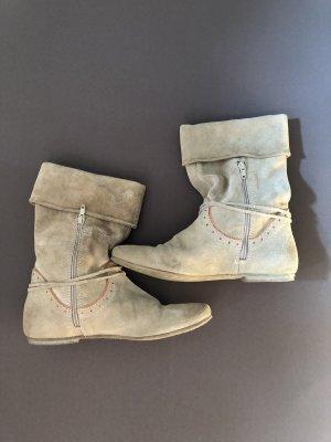 Manas Slip-on Booties camel-orange leather