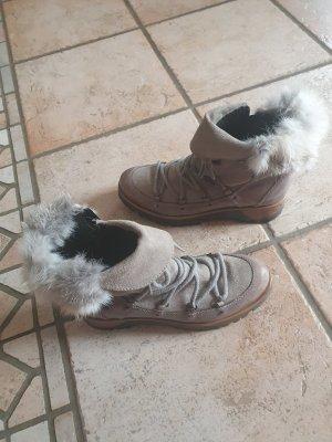 Manas Futrzane buty jasnoszary-szaro-brązowy