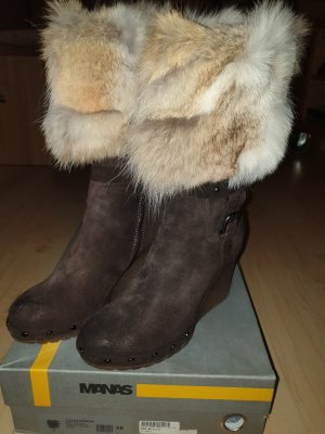 Manas Fur Boots multicolored
