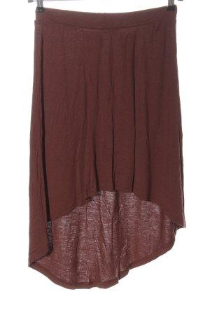 MANDA Jupe asymétrique brun style décontracté