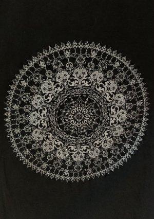 Mandala T-Shirt   schwarz mit Perlen   für (Yoga-)Queens   neu, nie getragen