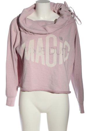 Mandalay Sweatshirt pink-wollweiß Schriftzug gedruckt Casual-Look