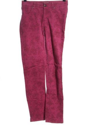 Mandarin High-Waist Hose pink Casual-Look