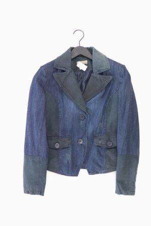 Mandarin Jacke blau Größe 38