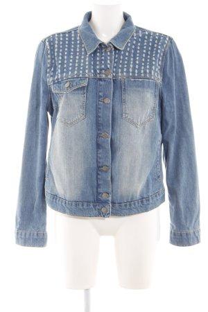 Mandarin Jeansjacke blau Casual-Look