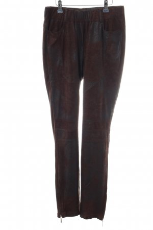 Mandarin Jeggings braun-schwarz Allover-Druck Casual-Look